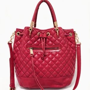 Rebecca Minkoff Confessions Red Leather Drawstring